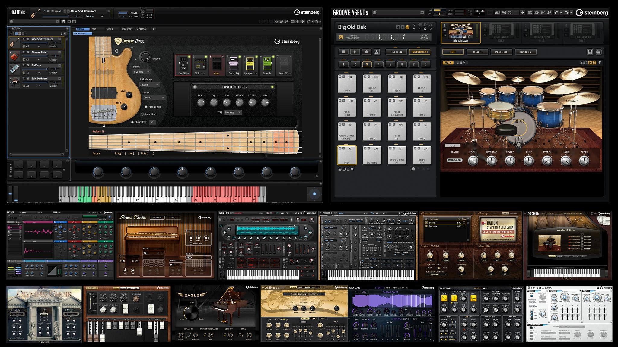 Steinberg Absolute 5 Collection Mac 破解版 最佳虚拟乐器